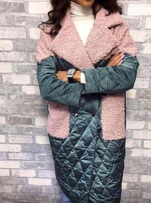 Пальто Стеганные пальто с объемными накладными карманами, без гарантии цвета!