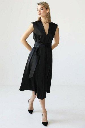 Платье из шелка с поясом в комплекте