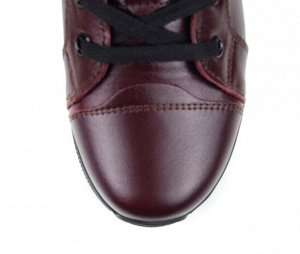 Ботинки натуральная кожа Бордовый