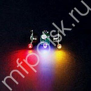 Светодиод 3d разноцветный в защитном корпусе 10 шт