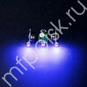 Светодиод 3d синий в защитном корпусе 10 шт