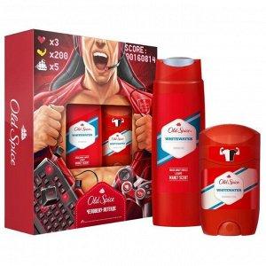 Q -> Подарочный набор OLD SPICE Твердый дезодорант WhiteWater 50мл + Гель для душа WhiteWater 250мл