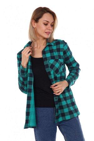 Рубашка стиль зеленый