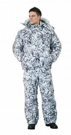 Костюм Ткань верха: алова, 100% пэ, 180 г/м2 Мембрана:  - водонепроницаемость: 10.000мм/м2/24ч - паропроницаемость: 3.000гр/м2/24ч Подкладка: полибрушет, таффета (рукава, п/к), флис (спинка п/к) Утепл