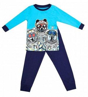 Пижама для мальчиков (фуфайка, брюки)