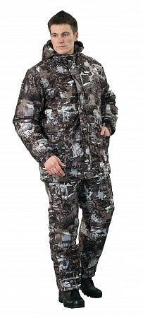 """Костюм Ткань верха: алова, 100% пэ, 180 г/м2 """"Мембрана: - водоупорность: 10.000мм/м2/24ч - паропроницаемость: 3.000гр/м2/24ч""""  Подкладка: таффета Утеплитель: синтепон: плотность: 400гр/м2 (куртка); 20"""
