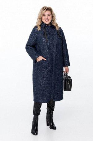 Пальто Пальто Pretty 788 темно-синий  Состав ткани: ПЭ-100%;  Рост: 164 см.  Пальто демисезонное из стеганной ткани на утепленной подкладке. Ассиметричная застежка на молнию и пришивные кнопки. Ворот