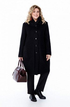 Пальто Пальто Pretty 1872 черный  Состав: ПЭ-40%; Шерсть-60%; Сезон: Осень-Зима Рост: 164  Женское пальто овального силуэта, выполненное из плотной пальтовой ткани. По переду есть отрезные бочки, в ш