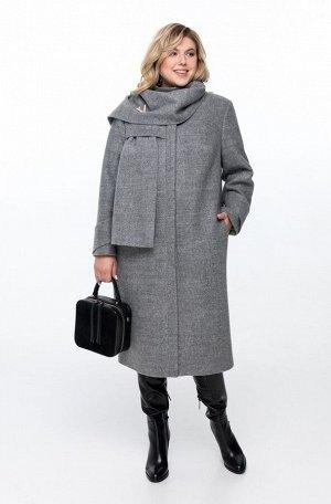 Пальто Пальто Pretty 1162 светло-серый  Состав: ПЭ-40%; Шерсть-60%; Сезон: Осень-Зима Рост: 164  Пальто женское на подкладке прямого силуэта, выполненное из добротной пальтовой ткани. Пальто имеет см