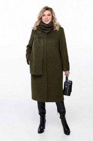 Пальто Пальто Pretty 1162 хаки  Состав: ПЭ-40%; Шерсть-60%; Сезон: Осень-Зима Рост: 164  Пальто женское на подкладке прямого силуэта, выполненное из добротной пальтовой ткани. Пальто имеет смещенные