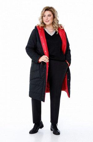 Пальто Пальто Pretty 1208 черный и красный  Состав: ПЭ-100%; Сезон: Осень-Зима Рост: 164  Двухстороннее дутое пальто на синтепоне, выполненное из плащевой ткани с горизонтальной стежкой. Одна сторона