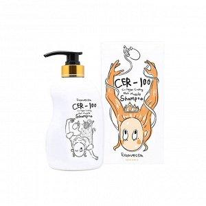 *Шампунь для волос с коллагеном Elizavecca CER-100 Collagen Coating Hair Muscle Shampoo 500 мл, ,