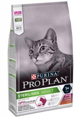 Pro Plan Sterilised сухой корм для стерилизованных кошек Утка/Печень 10кг