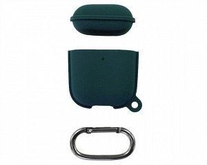 Чехол AirPods 1/2 Leather Hang Case (темно-зеленый)