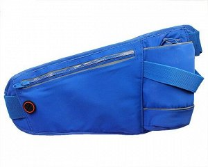 Чехол на пояс для телефона + держатель бутылки (синий)