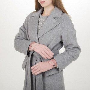 Перчатки женские безразмерные, с утеплителителем, для сенсорных экранов, цвет розовый