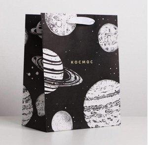 Пакет крафтовый «Космос» малый
