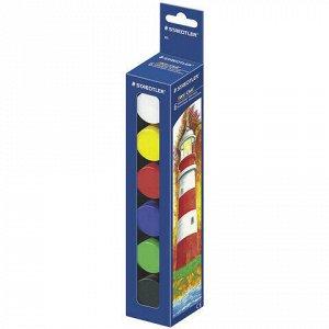 """Гуашь STAEDTLER (Штедлер, Германия) """"Noris Club"""", 6 цветов по 20 мл, без кисти, картонная упаковка, 885"""