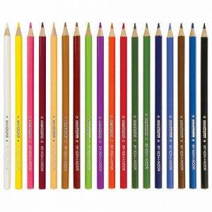 """Карандаши цветные ЮНЛАНДИЯ """"Домики"""" (KOH-I-NOOR EXCLUSIVE), 18 цветов, Чехия, 181554, 3553018045KS"""