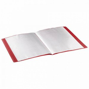 Папка 30 вкладышей STAFF, красная, 0,5 мм, 225698