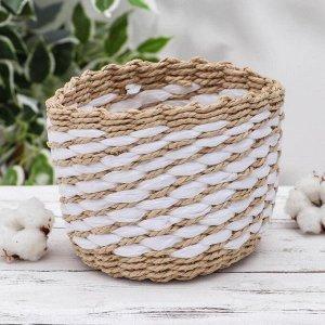 Корзина для хранения плетёная Доляна «Элли», 14?14?12 см
