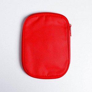 Косметичка дорожная 15,6*11,6 см, цвет красный