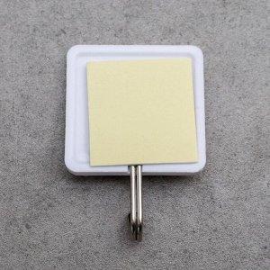 Набор крючков на липучке «Галерея», 9 шт, цвет белый