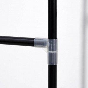 Стойка для вещей с креплением к стене Доляна, 117?32?172 см, цвет чёрный