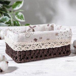 Корзина для хранения плетёная Доляна «Полянка», 19?13,3?8 см, цвет коричневый
