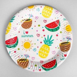 Тарелка бумажная «Вкусняшки», набор 6 шт.