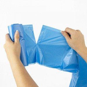 Мешки для раздельного сбора мусора 60 л синие в рулоне 20 шт., ПНД 10 мкм, 58х68 см, LAIMA, 606703, 3828
