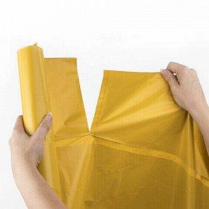 Мешки для раздельного сбора мусора 120 л, желтые, в рулоне 10 шт., ПВД 38 мкм, 70х108 см, LAIMA, 606705, 3842