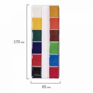 Краски акварельные POLIPAX, 12 цветов, медовые, без кисти, картонная коробка, европодвес