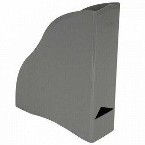 """Лоток вертикальный для бумаг BRAUBERG """"Cosmo"""" (260х85х315 мм), серый, 237007"""