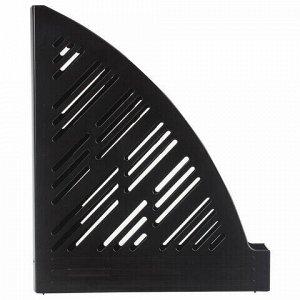 "Лоток вертикальный для бумаг BRAUBERG ""Standard+"", 250х90х300 мм, черный, 237224"