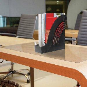 """Лоток вертикальный для бумаг BRAUBERG """"Office"""", 255х95х290 мм, черный, 237228"""