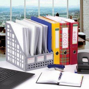 """Лоток вертикальный для бумаг BRAUBERG """"MAXI Plus"""", 240 мм, 6 отделений, сетчатый, сборный, серый, 237016, ЛТ86"""