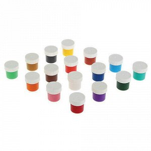 Гуашь KOH-I-NOOR, 16 цветов по 25 мл, без кисти, картонная упаковка, FG-KIN-216