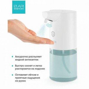 Диспенсер для жидкого антисептика СЕНСОРНЫЙ, 0,4 л, спрей, батарейки АА в комплекте, ELARI, SSD-02