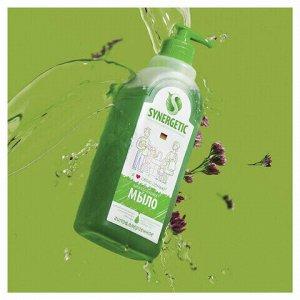 """Мыло жидкое 500 мл SYNERGETIC """"Луговые травы"""", гипоаллергенное, биоразлагаемое, дозатор, 105053"""