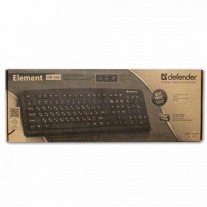 Клавиатура проводная DEFENDER Element HB-520, РАЗЪЕМ PS/2, 104 клавиши + 3 дополнительные клавиши, черная, 45520