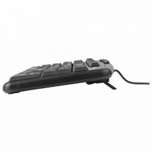 Клавиатура проводная SONNEN KB-8137, USB, 104 клавиши + 12 дополнительных, мультимедийная, черная, 512652