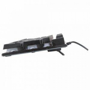Клавиатура проводная SONNEN KB-7010, USB, 104 клавиши, LED-подсветка, черная, 512653