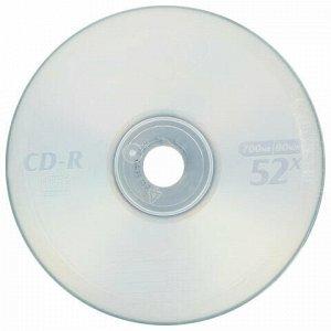 Диски CD-R VS 700 Mb 52x, КОМПЛЕКТ 50 шт., Bulk, VSCDRB5001