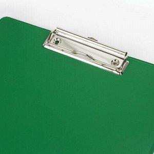 """Доска-планшет BRAUBERG """"Comfort"""" с прижимом А4 (230х350 мм), картон/ПВХ, РОССИЯ, ЗЕЛЕНАЯ, 222663"""