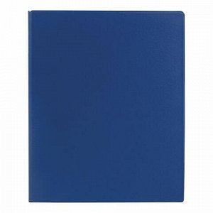 Папка на 4 кольцах BRAUBERG, картон/ПВХ, 35 мм, синяя, до 250 листов (удвоенный срок службы), 221484
