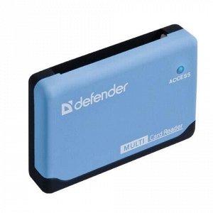 Картридер DEFENDER ULTRA, USB 2.0, порты SD, MMC, TF, M2, CF, XD, MS, 83500