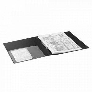"""Папка на 2 кольцах BRAUBERG """"Диагональ"""", 25 мм, черная, до 170 листов, 0,8 мм, 221342"""