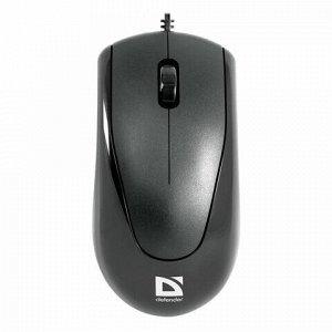 Мышь проводная DEFENDER Optimum MB-150, РАЗЪЕМ PS/2, 2 кнопки + 1 колесо-кнопка, оптическая, черная, 52150