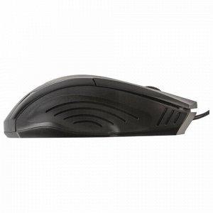 Мышь проводная SONNEN М-713, USB, 1000 dpi, 2 кнопки + колесо-кнопка, оптическая, черная, 512637
